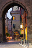 Bologna, Italy. Typical old alley in Bologna, Italy Royalty Free Stock Images