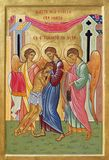 BOLOGNA, ITALY - APRIL 18, 2018: The icon of Merciful Father in church Chiesa di San Pietro by sr. Marina Chirico.  royalty free stock photos