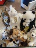 WWF plushes for sale. BOLOGNA, ITALY - CIRCA APRIL 2018: WWF plushes for sale Stock Images