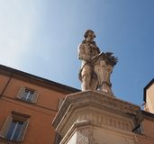 Luigi Galvani monument in Bologna. BOLOGNA, ITALY - CIRCA SEPTEMBER 2017: Monument to Luigi Galvani who discovered animal electricity, aka Galvanism after him Royalty Free Stock Images