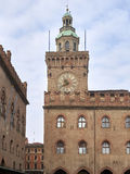 Bologna, Italy, detail of palazzo comunale. Storical building Stock Photo