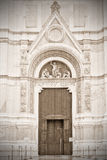 Bologna, Italy. Entrance to the Temple, Bologna, Italy.  Old style. Sepia Stock Photo