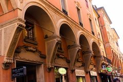 Architecture of Bologna stock photography