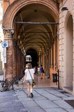The arcades of Bologna royalty free stock photos