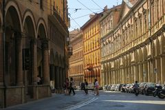 The beautiful old town of Bologna royalty free stock photography