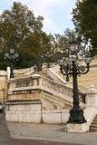 bologna Italy lamp kroki uliczni Fotografia Stock
