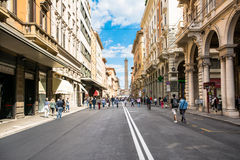 Bologna,Italy-May 17,2014:view of the Royalty Free Stock Image