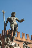 Neptune's bronze statue Stock Photo