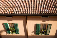 BOLOGNA, ITALY - October, 2017: General view city streets and medieval centre of Bologna. Italy Stock Images