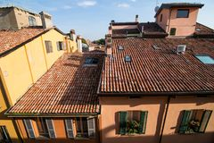 BOLOGNA, ITALY - October, 2017: General view city streets and medieval centre of Bologna. Italy Stock Photography