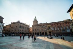 BOLOGNA, ITALY - October, 2017: General view city streets and medieval centre of Bologna. Italy Stock Photos