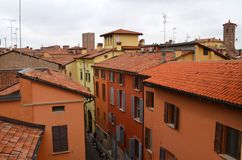 Bologna, Italy: urban architecture in the city centre Royalty Free Stock Photo