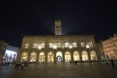 Bologna, Italy, people in piazza Maggiore, central square of the city. Bologna, Italy, people in piazza Maggiore, central square stock image