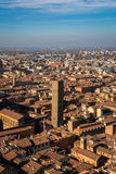 Bologna, Italy. View of from the Asinelli tower in Bologna, Italy Stock Images