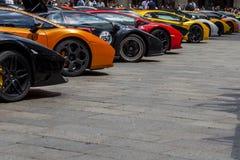 Bologna Lamborghini årsdag 50th Royaltyfria Bilder