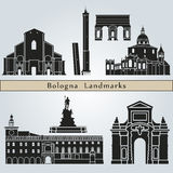 Bologna landmarks and monuments Royalty Free Stock Image