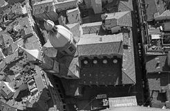 Bologna - Look down from Torre Asinelli to church of st. Bartolomeo e Gaetano. Royalty Free Stock Photos