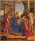 Bologna - Madonna and saints by Filippino Lippi (1501) in church Chiesa di San Domneico - Saint Dominic church. Stock Image