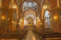 Bologna - Main nave of church San Giovanni in Monte. Stock Photo