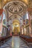 Bologna - Main nave of San Giacomo Maggiore. Stock Image