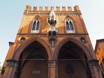 Bologna Market Palace or Building Palazzo della Mercanzia. Bologna Palazzo della Mercanzia translation Market Palace or Building Downtown Landmark Royalty Free Stock Images
