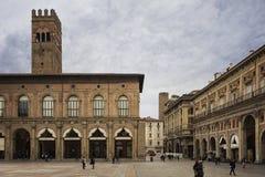 Bologna-Marktplatz maggiore stockfoto