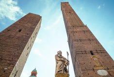 Bologna miasto w Czerwonym kolorze Zdjęcie Stock