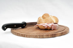 A Bologna mortadella bun Royalty Free Stock Photo