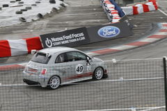 Car road test. Road testing the Fiat 500 Abarth at the Bologna Motor Show in Italy in 2010 Royalty Free Stock Images