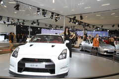 Nissan GT-R on Bologna Motor Show Stock Photography