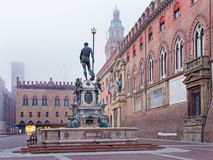 Bologna - Neptune fountain on Piazza Maggiore Stock Photos
