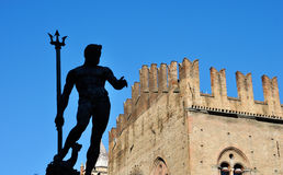 Bologna Neptune statue. Bologna, neptune statue in maggiore square Royalty Free Stock Photo