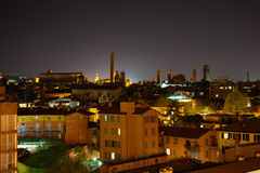 Bologna at night. Italy Stock Image