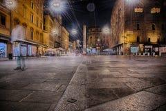 Bologna nocą Obraz Stock