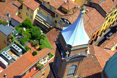 Bologna old city roofs Italy Royalty Free Stock Image