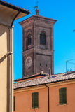 Bologna old town tower stock photo