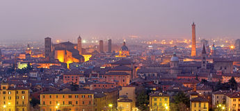 Bologna - Outlook to Bologna old town Royalty Free Stock Photo