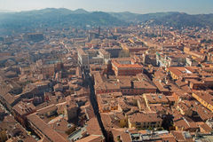 Bologna - Outlook from Torre Asinelli to south Stock Photo