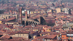 Bologna - Outlook from Torre Asinelli to st. Francis of Assisi church Royalty Free Stock Image