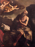 Bologna - Paint of st. Jerome  by Ludovico Carracci (1555 - 1619) in church San Martino. Stock Photography
