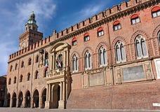 Bologna - Palazzo Comunale Lizenzfreie Stockfotos