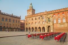 Bologna - Palazzo Comunale and Piazza Maggiore Stock Photos