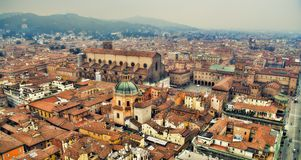 Bologna pejzażu miejskiego panorama Obrazy Royalty Free