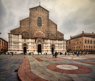 Bologna - piazza Maggiore Fotografia Stock