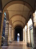 Bologna portici ulica Fotografia Royalty Free