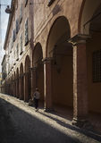 Bologna Portico at Dusk Stock Image