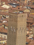 Bologna - Prendiparte tower. Bologna - torre dei Prendiparte (Prendiparte tower) seen from Asinelli tower Royalty Free Stock Photos