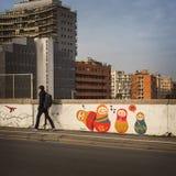 Bologna Przez Stalingrado ulicy Obrazy Stock