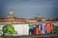Bologna Przez Stalingrado ulicy sztuki Obraz Royalty Free