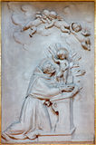 Bologna -  Relief of st. Anthony of Padoua in baro Royalty Free Stock Photo